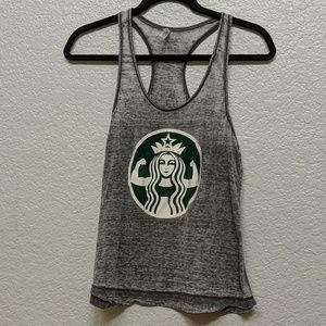 Tops - Strong Girl Starbucks Lifting Tank